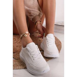 Bílé nízké chunky tenisky Wallis