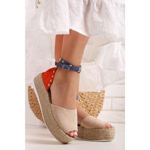Béžovo-oranžové platformové sandály Clair