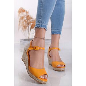 Žluté platformové sandály Solange