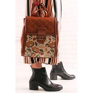 Smetanovo-skořicový batoh Michelle