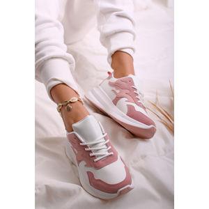 Růžovo-bílé nízké tenisky Helia
