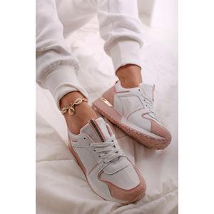 Růžovo-bílé nízké tenisky Phoebe
