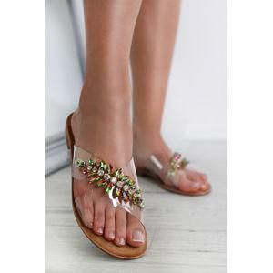 Béžovo-zelené pantofle Hadyn