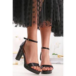 Černé sandály Albertina