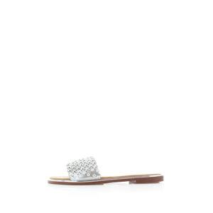 Stříbrné pantofle Chasity
