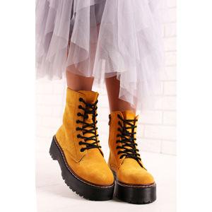 Žluté kotníkové boty Wendy