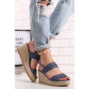 Modré platformové sandály Joelle