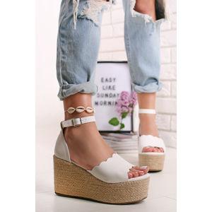 Bílé platformové sandály Sylvie