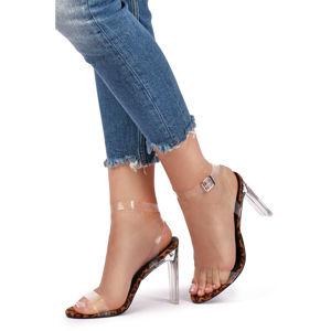 Leopardí sandály Ezra