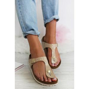 Dámské béžové pantofle Gizeh BF Patent