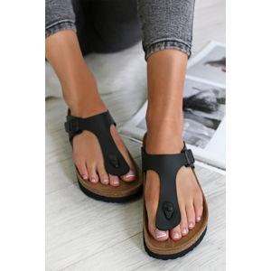 Dámské černé platformové pantofle Gizeh Platform BF