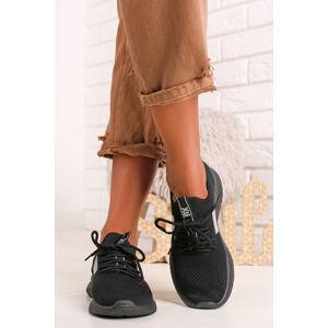 Černé textilní tenisky 44706