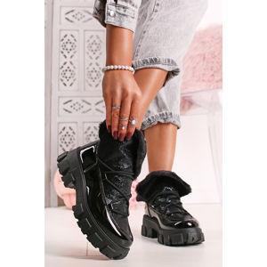 Černé kotníkové boty Samplia