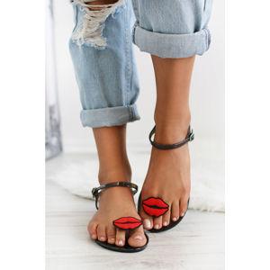 Černé sandály Maegan
