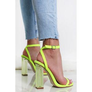 Neonově-zelené sandály Elaina