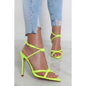 Neonově-zelené sandály Gemma