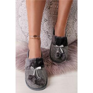 Šedé pantofle Poppy