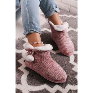Růžové pantofle Linette