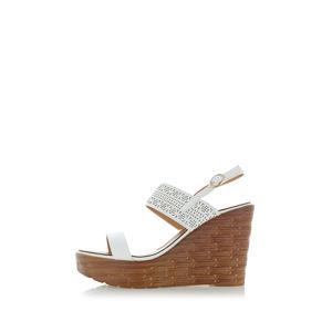 Bílé platformové sandály Jerry