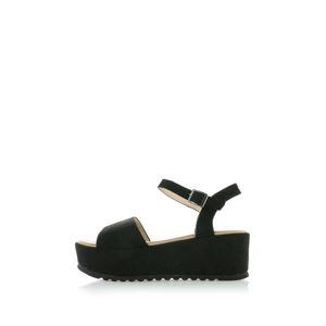 Černé platformové sandály Sely