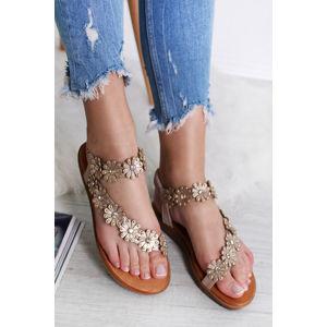 Růžovozlaté sandály Christine