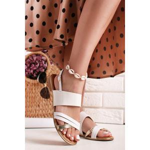 Bílé sandály Arienne