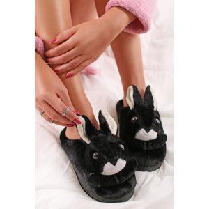Černé pantofle Bunnie