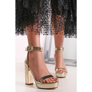 Zlaté sandály Debbie