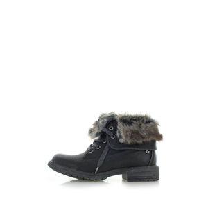 Černé kotníkové boty 64665
