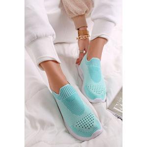 Světle modré textilní tenisky 49823