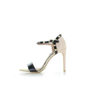 Béžovo-černé sandály Glenna