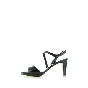 Černé sandály 1-28319
