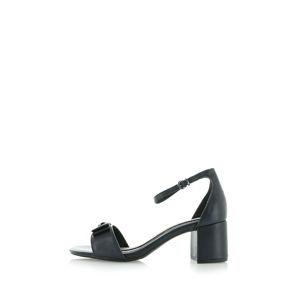 Tmavě modré kožené sandály 2-28339