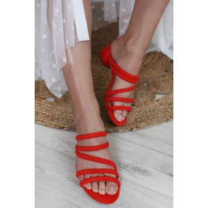 Oranžové pantofle 1-27237