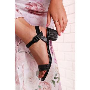 Černé sandály Bethy