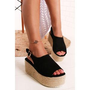 Černé platformové sandály Karrie