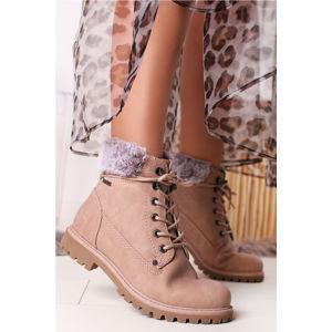 Růžové kotníkové boty 7990106