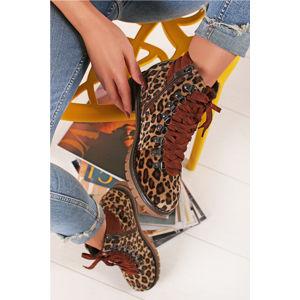 Leopardí kotníkové boty 2-26750