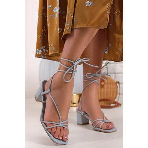 Modré šněrovací sandály Darlie