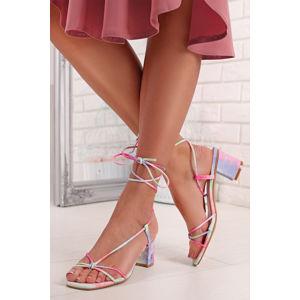 Vícebarevné šněrovací sandály Inga