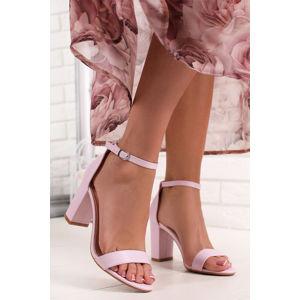 Světle fialové sandály na hrubém podpatku Blithe