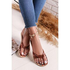 Béžovo-hnědé gumové pantofle Kirei Silk V