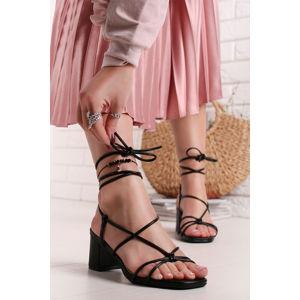 Černé sandály Darlie