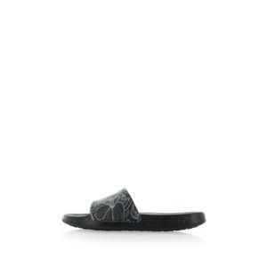 Černé květované pantofle Tora