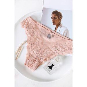 Růžové kalhotky Vintage Romance Cheeky