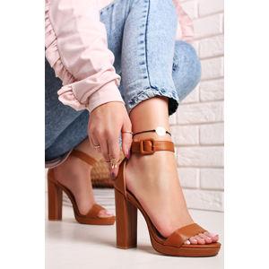 Skořicové sandály Frezia