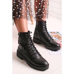 Černé kotníkové boty 49454