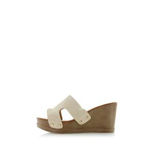 Béžové platformové pantofle Roma