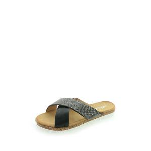 Černé pantofle Prudence