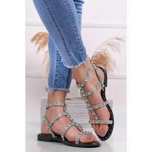 Mátové vybíjeny sandály Lorea